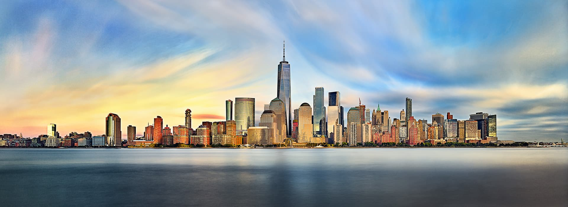 Copyrighted NYC Skyline from Jersey City NJ Copyrighted and Photographed by Philadelphia photographer Bob Graham, Jr, interior and exterior architectural photographer Ambler PA 19002
